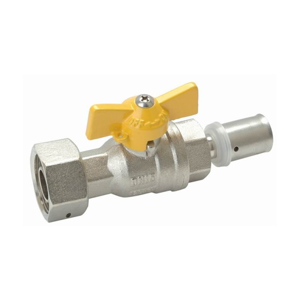 GAS VALVE_Compression Brass Ball Valve With Full Bore_Art.TS 628P