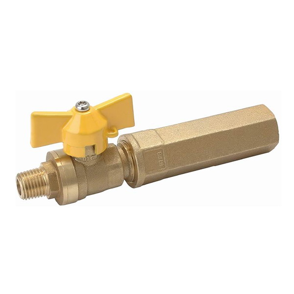 GAS VALVE_ Brass Gas Ball Valve With Full Bore_Art. TS 908