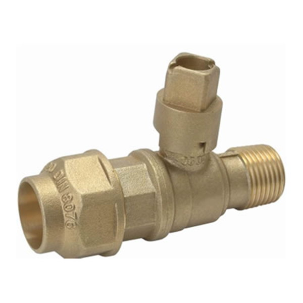WATER METER VALVE_Compression Ball Valve_Art. TS-918 PE20