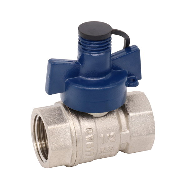 WATER METER VALVE_Brass Ball Valve With Brass Security Handle_Art.TS-609