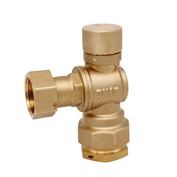 WATER METER VALVE_Lockable Angle watermeter valve with compression fitting_Art.TS BB02