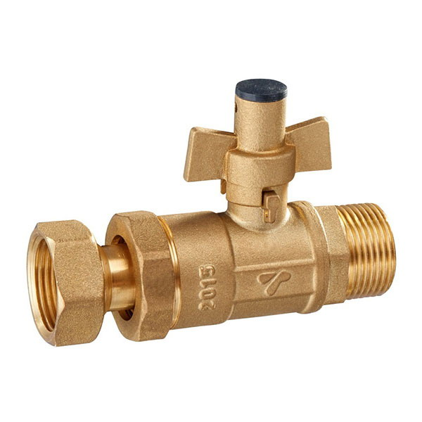 WATER METER VALVE_Lockable watermeter valve with telescopic formation_Art.TS 3012
