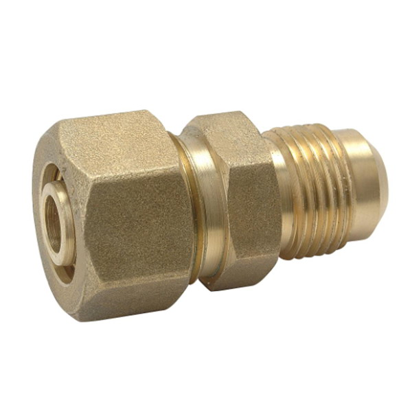 COMPRESSION FITTINGS_Brass Straight Connector Fittings For PEALPE Pipe_Art.TS 100