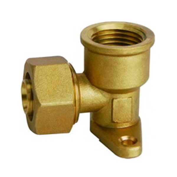 COMPRESSION FITTINGS_Female Elbow with Wall Flange_Ars.TS 105BM