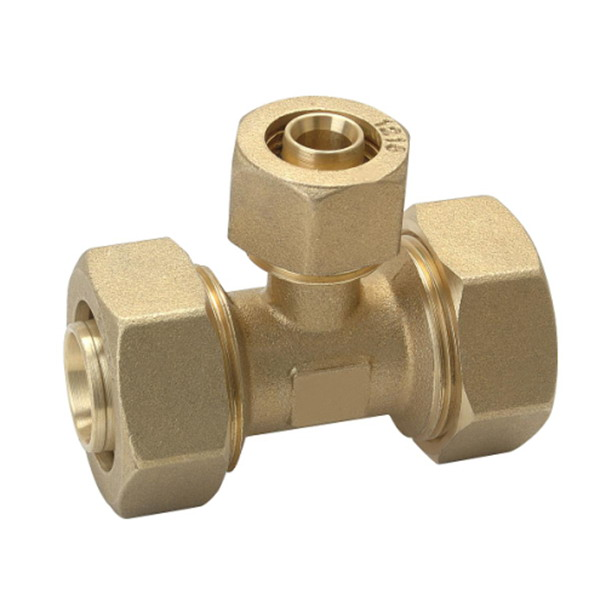 COMPRESSION FITTINGS_​ PE/AL/PE Equal Tee_Art.TS-109