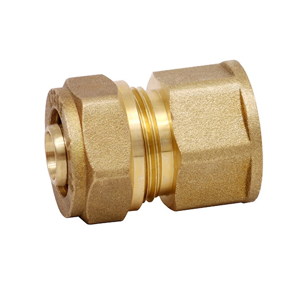 COMPRESSION FITTINGS_Brass Couplings Fittings For PEALPE Pipe_Art.TS 102N