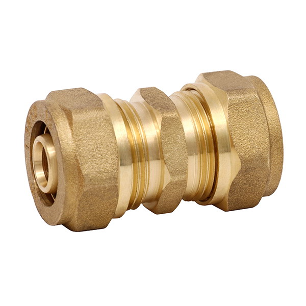 COMPRESSION FITTINGS_Brass Couplings Fittings For PEALPE Pipe_Art.TS 101N