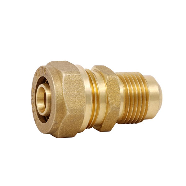 COMPRESSION FITTINGS_Brass Couplings Fittings For PEALPE Pipe_Art.TS 100N