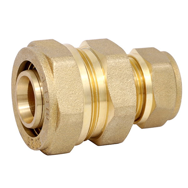 COMPRESSION FITTINGS_Brass Couplings Fittings For PEALPE Pipe_Art.TS 101RN