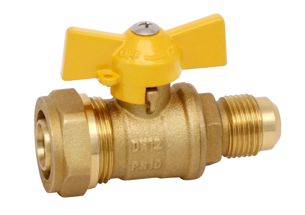 GAS VALVE_Brass Gas Valve With Full Bore_Art. TS 364N