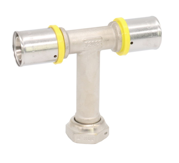 PEX PRESS FITTINGS_Brass Tee with Union For  Equal PEALPE Pipe_Art. TS 109P 2025xGMCx2025
