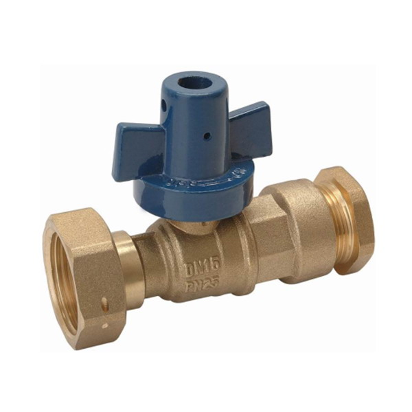 WATER METER VALVE_Ball Straight Water Meter valve For PE Piping_Art.TS 919PE