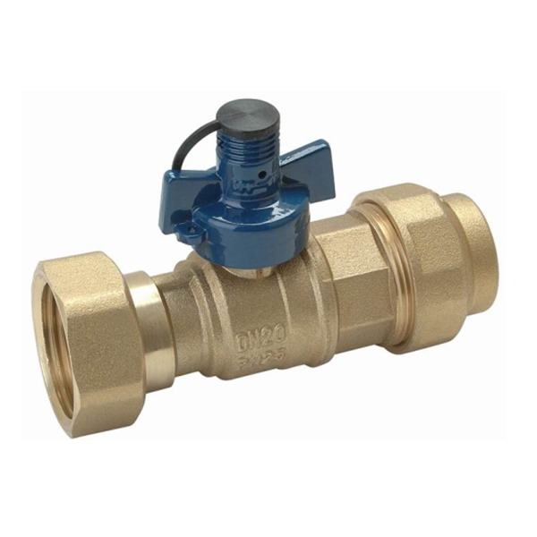 WATER METER VALVE_Ball Straight Water Meter valve For PE Piping_Art.TS 919