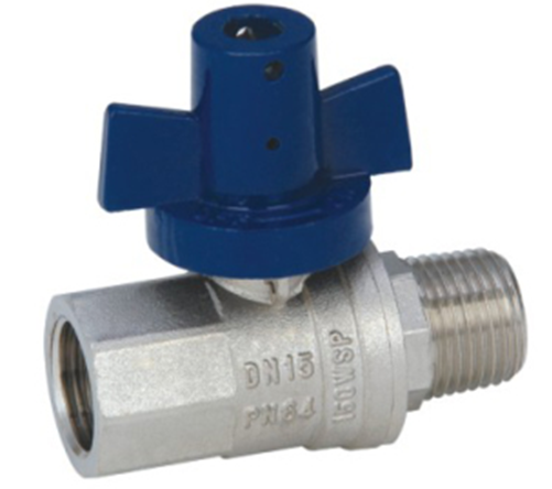 WATER METER VALVE_Brass Full Bore Ball Valve with Aluminium security handle_Art.TS 459